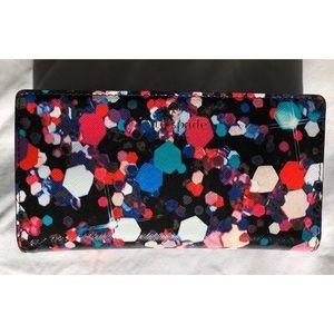 Kate Spade Wallet Gems Black Red Blue